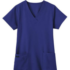 Jockey Women's Galaxy Blue Zipper Scrub Top